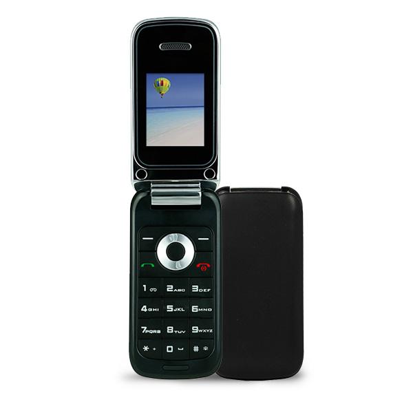 F1 flip phone black